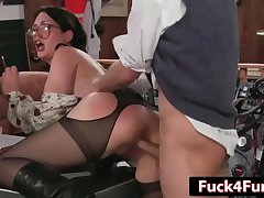 Ghostbusters Parody - Big Ass Secretary Janine Takes 2 Cocks accomplishment Sarah Shevon  HD