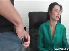 Milf handjob within reach a catch office