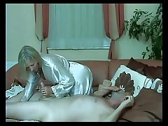 Gorgeous Of age Handjob Footjob