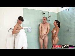Eva Karera together at hand Shae Summers crazy 3some at hand hard shaft
