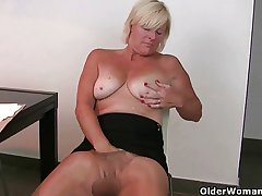 At five o'clock mom's pantyhose down-swing