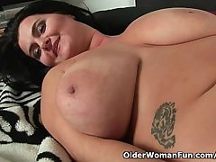 Soccer moms with innocent big tits having solo sex