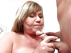 Mature woman with an increment of young man - 73