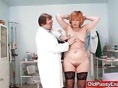 Redhead gran pussy gaping at gyno sanatorium