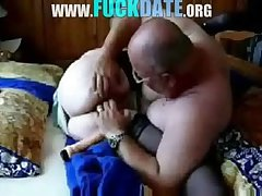 Old slut granny having mating apropos hubby