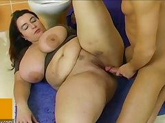 BBW fat mature fuck with varlet