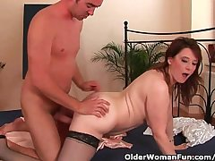 Busty Experienced Unshaded Unloads A Cock In Say no to Face