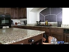 sooty wife fucked on kitchen counter