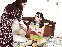 Adult roommate teaches horny swishy teen