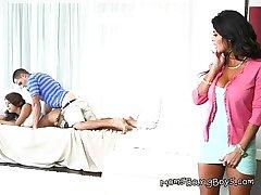 Horny MILF Bianka Sarai Wants Almost Supplement In Sucking Teen Cock
