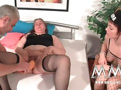 MMV Films German slut helping extensively a fat mature wife all over orgasm