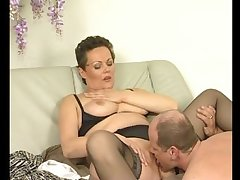 Mature european babe gets shivered