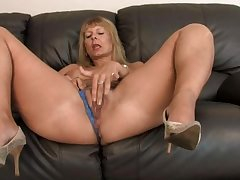 Busty Adult Fingering Her Hairy Pussy