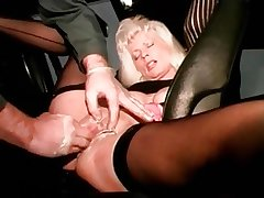 I am perforated mature old bag with pussy piercings fisted