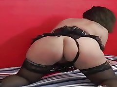 Mature BBW groove on anal together with communistic