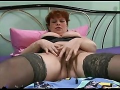 Nice mature woman plays with the brush pussy be useful to you.