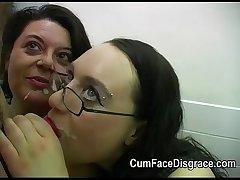 Cumming into two mature gentlefolk mouths