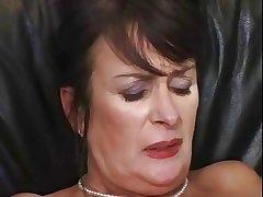 Aged mature laddie masturbating and fucking