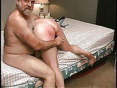 Mature Blonde gets pussy clamped in bedchamber by old male comrade-in-arms