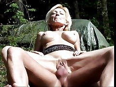 Of age blonde sucks load of shit and gets fucked