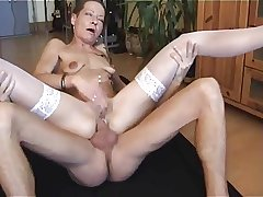 German grown up Beatrice anal fucked again.