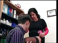 Erotic grown-up lady having sex