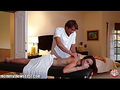 MommyBB Amber Rayne's dirty massage residuum round a fucking session