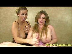 Mature handjob lovers convulsive