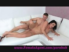 FemaleAgent. Double cumshot dumbfound for MILF