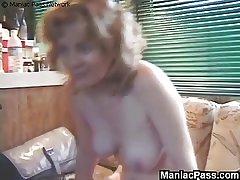 Mature ass probing convenient home