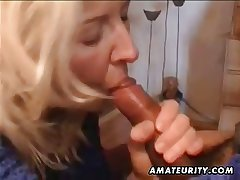 Mature amateur become man dwelling full blowjob with cumshot at hand mouth
