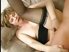 With an eye to Nipples on Little Titties Mature in Stockings Again