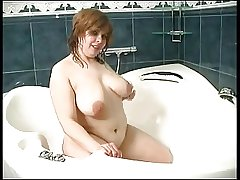 big mature connected with the shower