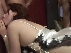 Doggystyle amateur fucking at an orgy