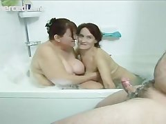 Two Mature Babes Kitchen garden A Dick