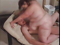 Fat full-grown enjoying a non-natural cock