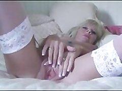Petite Milf Strips Plus Fucks Her Massive Dildo