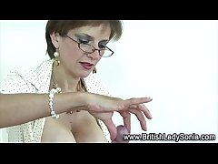 Laddie Sonia waxes bdsm load of shit