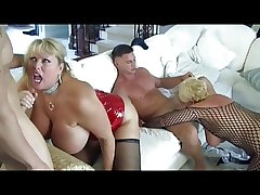 Hot Grown-up Busty Cougars Gangbanged
