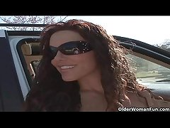 Soccer milf Victoria Valentino gets white-haired up from the parking lot  HD