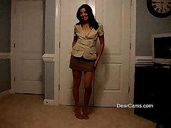 Grown up Latina private strip dance