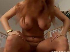 Big interior redhead MILF fucked