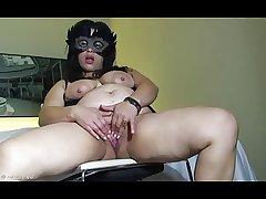 Latin Mature Masturbating