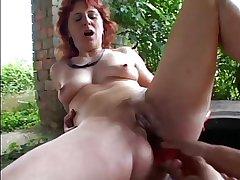 Glum Old lady n78 redhead grown up anal