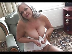 Sweet busty graanny around open girdle