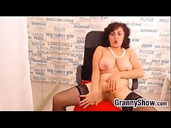 Granny Near Stockings Rubbing Say no to Pussy