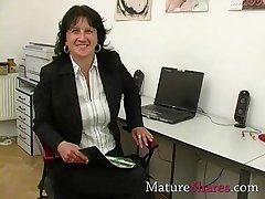 Matured secretary famous POV blowjob