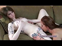 Redhead Autumn munching some sweet teen pussy