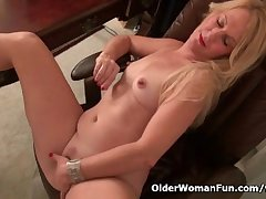 American milf Shelby stripping off within reach the office