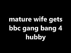 old wife gets bbc troop bang 4 hubby